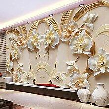 Tapete Phalaenopsis Geprägte Hintergrund Wand 3D