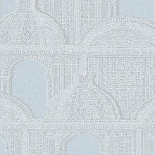 Tapete Piazza Architects Paper Farbe: Blau / Grau