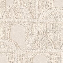 Tapete Piazza Architects Paper Farbe: Creme