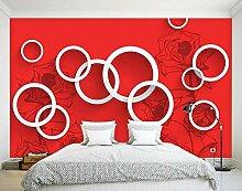 Tapete Pusteblume Rote Rose 3D Wandbilder Für