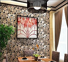 Tapete PVC Retro 3D Imitation Holz Textur Tapete Dekor Schlafzimmer Bar Cafe TV Wand Wohnzimmer Tapete-53 cm (W) * 10 m (L) , 1