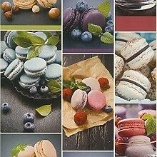 Tapete rasch 852806 Französische Macarons Kekse Küche Kuchen Bar