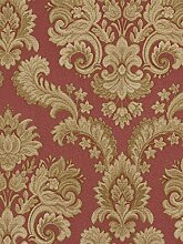 Tapete Rasch Textil Barock Floral rot gold Tradizionale 8048