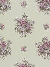 Tapete Rasch Textil Blumen creme grau Tradizionale 8009