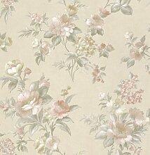 Tapete Rasch Textil Golden Memories Blumen creme