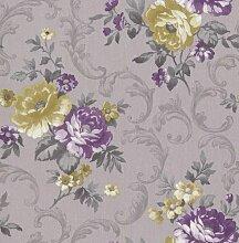 Tapete Rasch Textil Golden Memories Floral flieder lila 324319