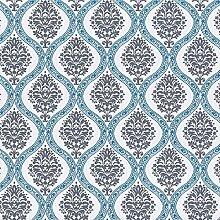 Tapete Rasch Textil Ornamente grau blau Vintage