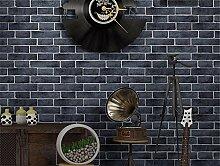 Tapete Retro 3D Dreidimensionale imitation Brick wallpaper Restaurant Bar Cafe Hintergrundbild, H