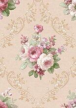 Tapete Romantik mit Rose Rosa und Pink mit