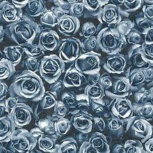 Tapete Rosalee 10 m x 53 cm Muriva Farbe: Blau
