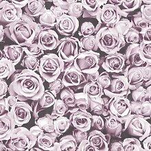 Tapete Rosalee 10 m x 53 cm Muriva Farbe: Rosa