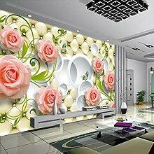 Tapete Rose Leder 3D Wandbild Tapete Für