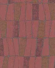 Tapete Rot Grafisch für Schlafzimmer Wohnzimmer