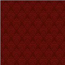 Tapete Roter Französischer Barock 2.55m L x 384cm