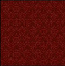 Tapete Roter Französischer Barock 240 cm L x 240
