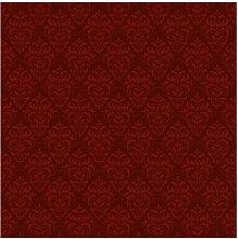 Tapete Roter Französischer Barock 288 cm L x 288