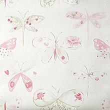 Tapete Schmetterlinge rosa und taupe Holzoptik