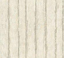 Tapete SCHÖNER WOHNEN Holz Brett Shabby Vintage grau creme 32706-1