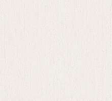 Tapete SCHÖNER WOHNEN Struktur Einfarbig Vinyltapete weiß 32453-5