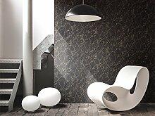 Tapete Schwarz Effekt Marmor mit Maserung blass Gold glänzend. Utah Uta 29620237Stil Französisch