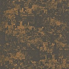 Tapete Schwarz Schlamm mit Kastanienrot glänzend. Utah Uta 29651538Stil Französisch Casadeco