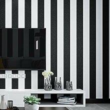 Tapete, schwarz und weiß Streifen Tapete,
