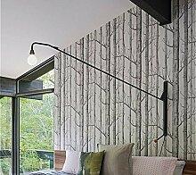 Tapete-Schwarz - Weiße Birke - Tapete Für Schlafzimmer Moderne Wohnzimmer Tapeten - Rustikalen Wald, Wald 0.53M (10 *