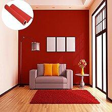 Tapete selbstklebend Wand Aufkleber Dekoration für Möbel Schlafzimmer Wohnzimmer Büro, ro