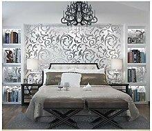 Tapete Silber Grau Abstraktes Blatt Moderne