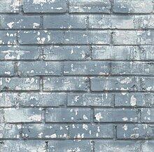 Tapete Steine Antik Blau Abfärbung 5685 Friends &