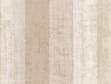 Tapete Streifen beige grau und elfenbein gestickt