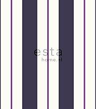 Tapete Streifen Lila - 116505 - von ESTAhome.nl
