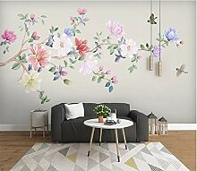 Tapete Tapeten 3D Diy Blumen- Und Vogelmagnolie