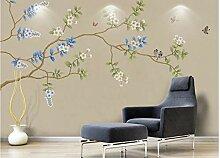 Tapete Tapeten 3D Diy Blumen, Vögel, Blumen Und