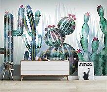 Tapete Tapeten 3D Diy Tropischer Pflanzenkaktus