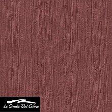 Tapete Textur rot bordeaux glanz mit Relief A drappato. Elegante und hoch waschbar. Eleganz 3098