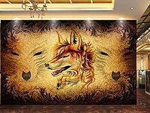 Tapete Tier Retro Wolf 3D Wandbilder Für