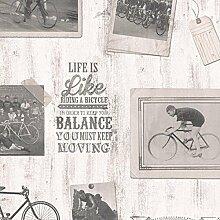 Tapete Vintage mit Fotos weiß und schwarz von Alte Bilder. decoeasy 21510–35Effeline