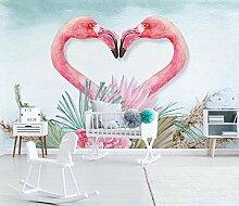 Tapete Vlies Flamingo Fototapete Fotowand Super