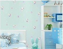 Tapete Vlies Kinderkatze Blau Effekte Muster