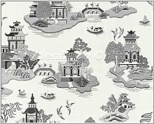 Tapete Vliestapete Aquarius K & B Japan Tempel
