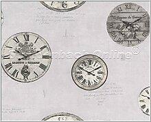 Tapete Vliestapete Aquarius K & B Vintage Uhr