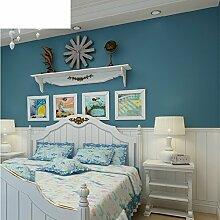 Tapete/Vliestapete/Blauen einfachen Streifen-Tapete/Wohnzimmer Schlafzimmer Tapeten/TV Kulisse Tapete-A