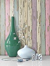 Tapete Vliestapete Holz Muster in Pastell Farben , schöne edle Tapete im Antikholz Design , moderne 3D Optik für Wohnzimmer, Schlafzimmer oder Küche inkl. Newroom Tapezier Ratgeber mit super Tipps!