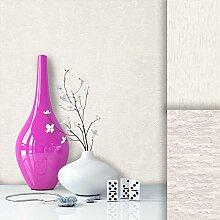 Tapete Vliestapete Uni Weiß Creme Edel , schönes modernes Design mit Luxus Effekt , moderne Optik für Wohnzimmer, Schlafzimmer, Flur oder Küche inkl.Newroom Tapezier Profibroschüre mit super Tipps!