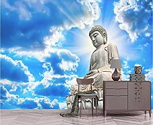 Tapete Wandbild 3D Fototapete Buddha-Figur