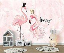 Tapete Wandbild 3D Fototapete Flamingo Wandtapete