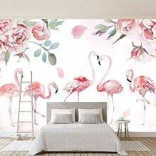 Tapete Wandbild 3D Vision Flamingo Vlies