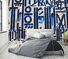 Tapete Wandbilder Blaue industrielle Art Graffiti