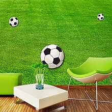 Tapete Wandbilder Grüner Rasen Fußballplatz